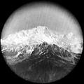 1904 Savoie massif de Belledonne Puy Gris 2908 m le mont Blanc au téléobjectif à 97 km