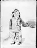 1899 01 16 Chine Si An Fou  petit Chinois en costume d'hiver Aquarelle de Félix LR