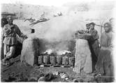 1898 11 Chine T'Aé Yang Sue Fours à fonte en allumage