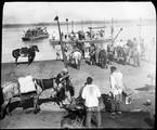 1898 10 13 Chine Tcheng Ting Fou  passage du Pou-T'ang-Ho par les troupes du Kansou
