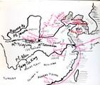 1898 09 Chine carte du voyage de Félix Leprince-Ringuet dans les provinces du Nord