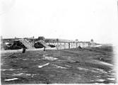 1899 01 Chine  Kiang Tchoo, grandes barques sur le Fen Ho