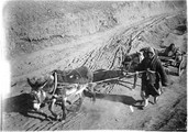 1899 02 Chine Ho Nan, charrette à roues de fonte