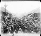 1899 02 16 Chine La foule à Si P'ing Sien, fête du 16 de la première lune