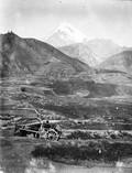 1897 09 01 Russie Village de zion et le mont Kazbek 5044 m