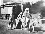 1897 09 15 Ouzbékistan SamarKand Sarte et son mioche et âne suivi de 2 musulmanes à lwed