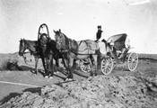 1897 09 18 Turkménistan Merv troïka du lieutenant Agamaloff
