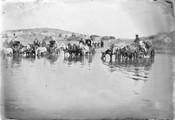 1897 10 04 Arménie route d'Alaxandropol à Ani passage du gué